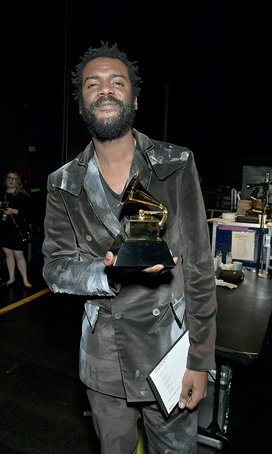 "<strong>Gary Clark, Jr.</strong> (pictured at the 2020 GRAMMYs pre-party) took home the Best Rock Performance and Best Rock Song awards for ""This Land.""
