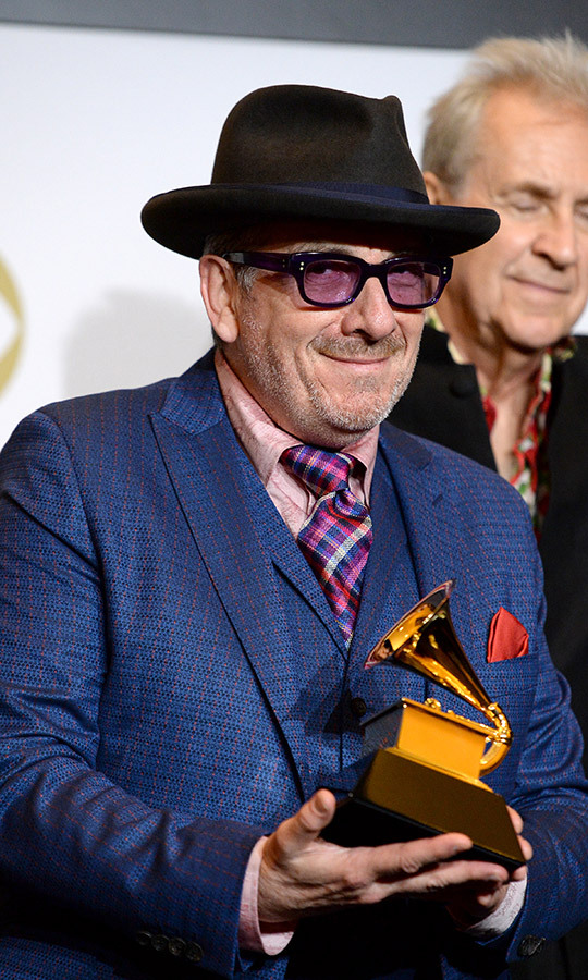 <strong><a href=/tags/0/elvis-costello>Elvis Costello</a></strong> won the Best Traditional Pop Vocal Album award for <I>Look Now</I>.