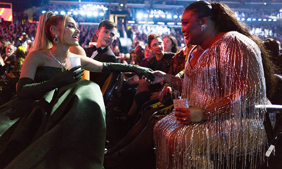 Ariana and Lizzo were also spotted in a sweet moment.