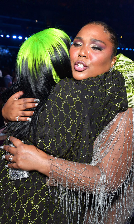 Lizzo hugged everyone! She was also spotted giving Billie an embrace.