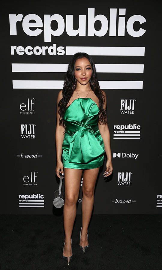 <strong>Tinashe</strong> was gorgeous in a silky green mini dress at the Republic Records GRAMMY after-party. <p>Photo: &copy; Tommaso Boddi/Getty Images for Republic Records