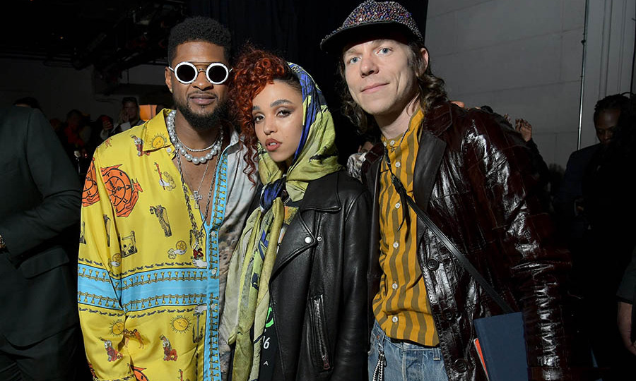 What a cool group! <a href=/tags/0/usher><strong>Usher</a></strong>, <a href=/tags/0/fka-twigs><strong>FKA twigs</strong></a> and <strong>Matt Shultz</strong> of <strong>Cage The Elephant</strong> showed off their artistic and colourful styles while attending the Sony Music Entertainment 2020 post-GRAMMY reception at NeueHouse Hollywood. <p>Photo: &copy; Charley Gallay/Getty Images for Sony