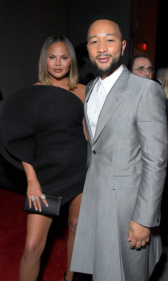 <a href=/tags/0/chrissy-teigen><strong>Chrissy Teigen</strong></a> and husband <a href=/tags/0/john-legend><strong>John Legend</a></strong> stepped out to the Sony Music Entertainment 2020 post-GRAMMY reception in high style. <p>Photo: &copy; Charley Gallay/Getty Images for Sony