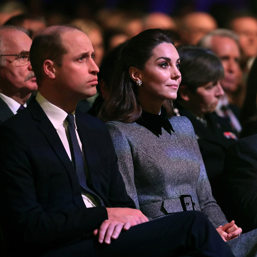 William and Kate were visibly moved by what they heard. 