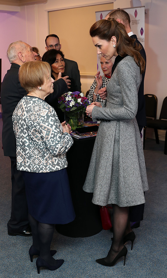 Kate spoke with Mala after the service.