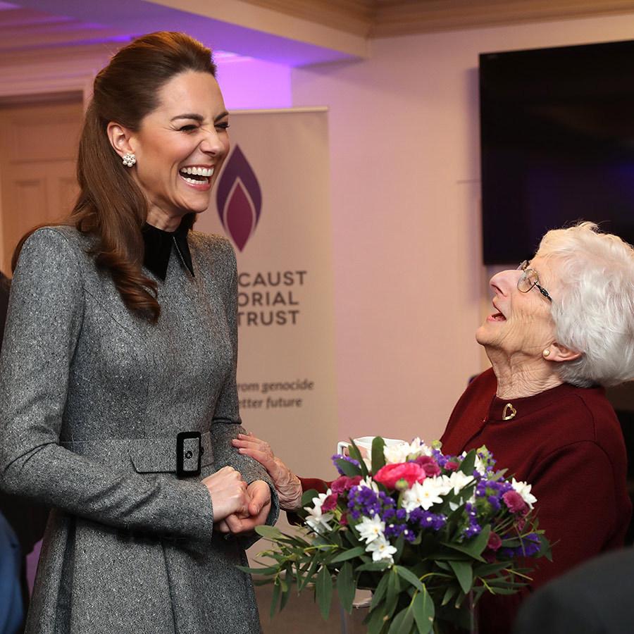 She also shared a laugh with Yvonne, one of the survivors whose portraits she took. 