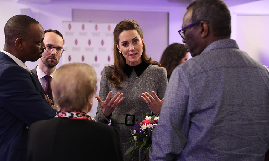 Kate also spoke with other genocide survivors after the service. It's clear the Duke and Duchess of Cambridge were quite emotionally moved by what they heard there, and we know they will continue to apply what they learned to their important work, especially on mental health.