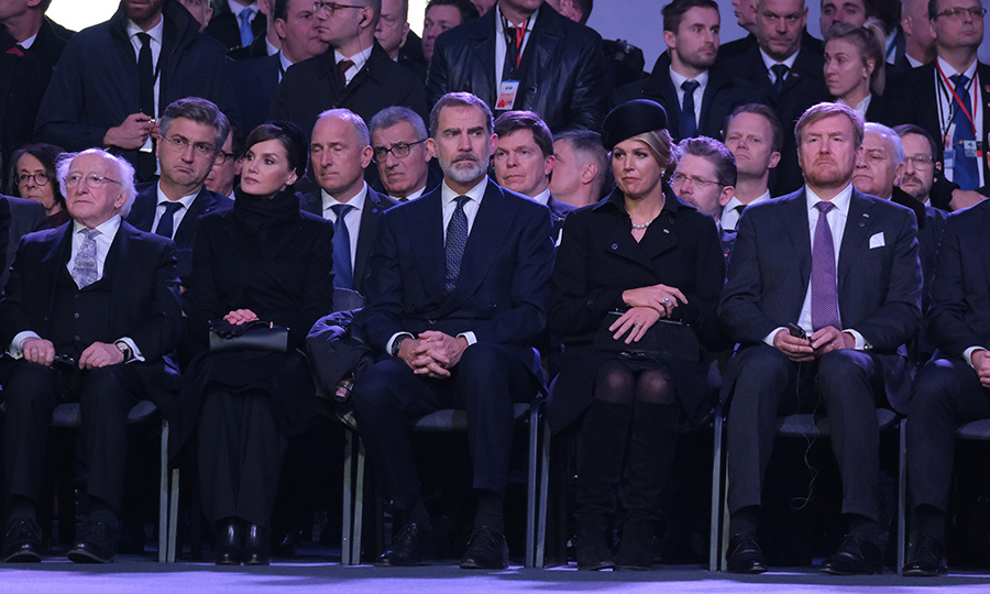 She was joined by royals including Felipe, Letizia, Máxima and Willem-Alexander, who were also very moved by the speeches they heard. A week before, Felipe had been in Israel for the World Holocaust Forum with <strong><a href=/tags/0/prince-charles>Prince Charles</a></strong>.