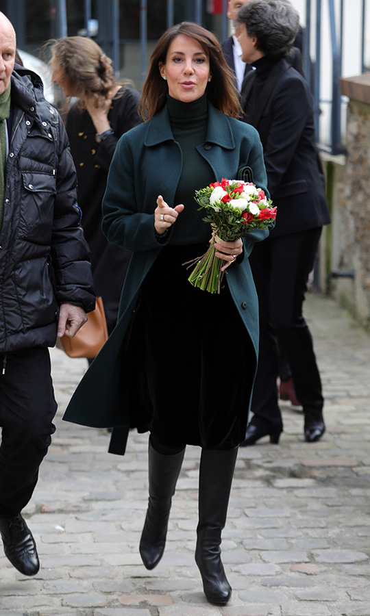 "<a href=/tags/0/princess-marie><strong>Princess Marie</strong></a> of Denmark fashionably layered a deep green coat and turtleneck with tall boots and a dark skirt when she visited the ""Les Contes Étranges De Niels Hansen Jacobsen"" exhibition at the Musée Bourdelle in Paris on Jan. 28. <p>Photo: &copy; Pierre Suu/Getty Images"