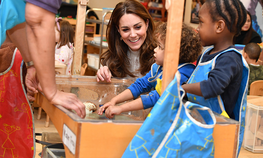 <strong><a href=/tags/0/kate-middleton>Duchess Kate</a></strong> made a surprise visit to LEYF Stockwell Gardens Nursery & Pre-School in London on Jan. 29! 