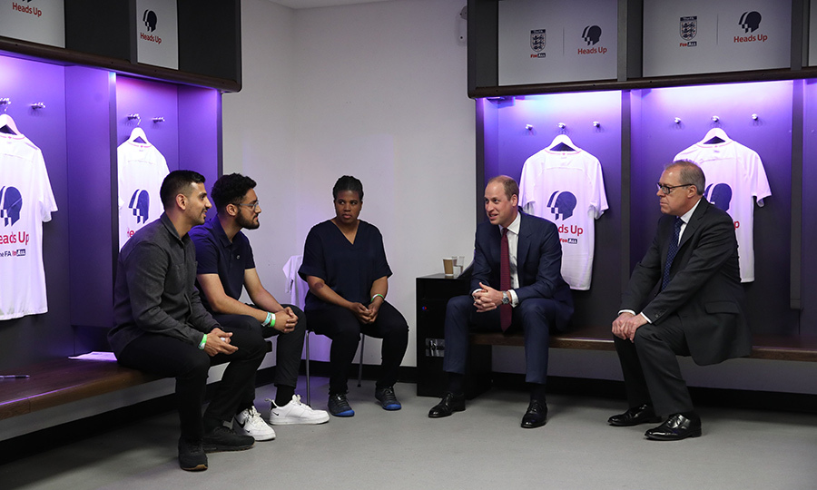 In May 2019, William launched <strong><a href=/tags/0/heads-up>Heads Up</a></strong>, a new initiative that is intended to use soccer to prompt a UK-wide conversation about mental health. 