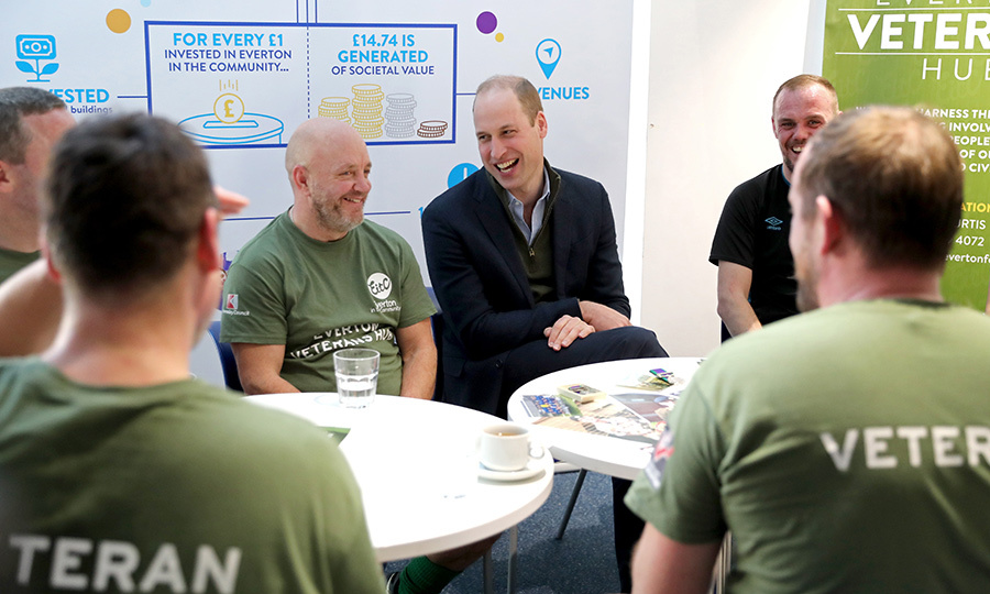 The prince also took the time to chat with veterans who access some of the club's services.