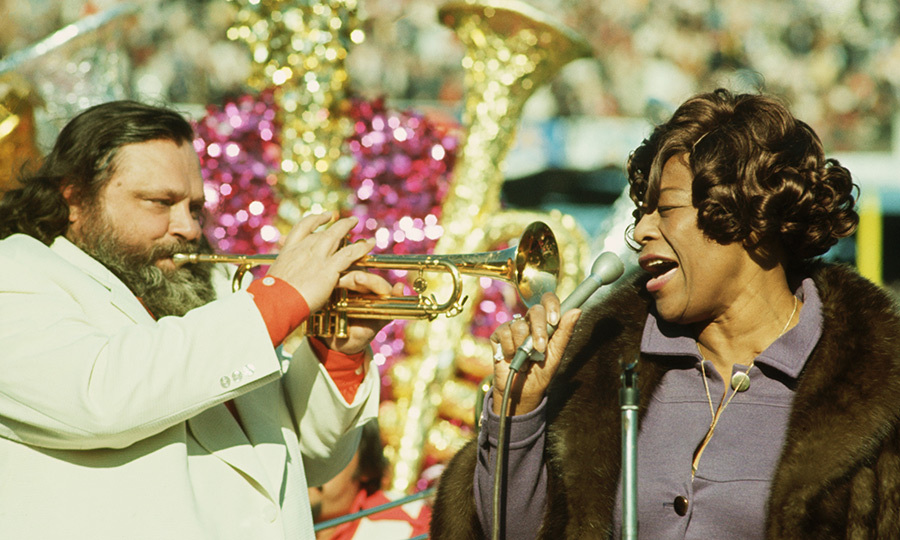 The first non-marching band performers at the Super Bowl were <strong>Ella Fitzgerald</strong>, <strong>Carol Channing</strong> and <strong>Al Hirt</strong>, who headlined the show with the USFA Cadet Chorale and U.S. Marine Corps Drill Team in 1972. 