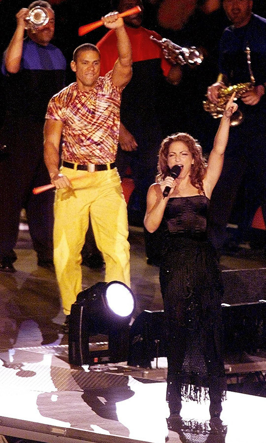 <strong>Gloria Estefan</strong>'s 1992 performance turned the halftime show into the spectacle it has since become. Her set included appearances from U.S. figure skaters <strong>Brian Boitano</strong> and <strong>Dorothy Hamill</strong>, along with members of the 1980 U.S. hockey team. 