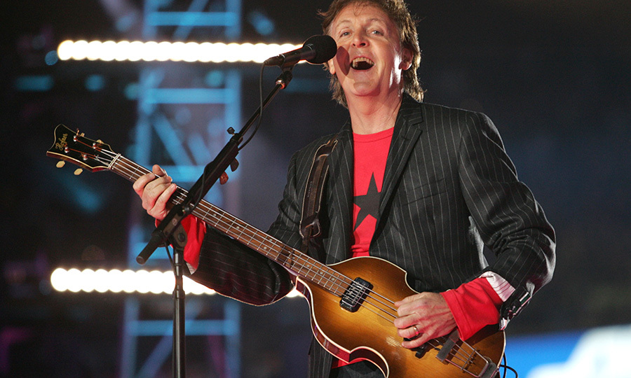 "<strong><a href=/tags/0/paul-mccartney>Paul McCartney</a></strong> performed a medley of Beatles hits and his ""Live and Let Die"" theme in 2005.