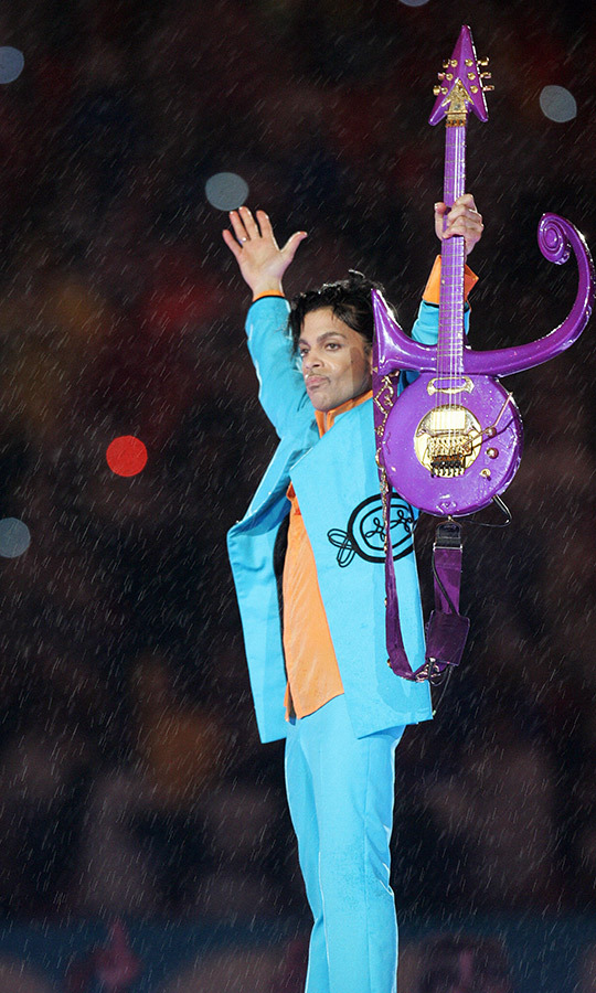 "The crowd appropriately went crazy when <strong><a href=/tags/0/prince>Prince</a></strong> played the Super Bowl in 2007, and appropriately, while it was raining during his set, he closed with ""Purple Rain.""