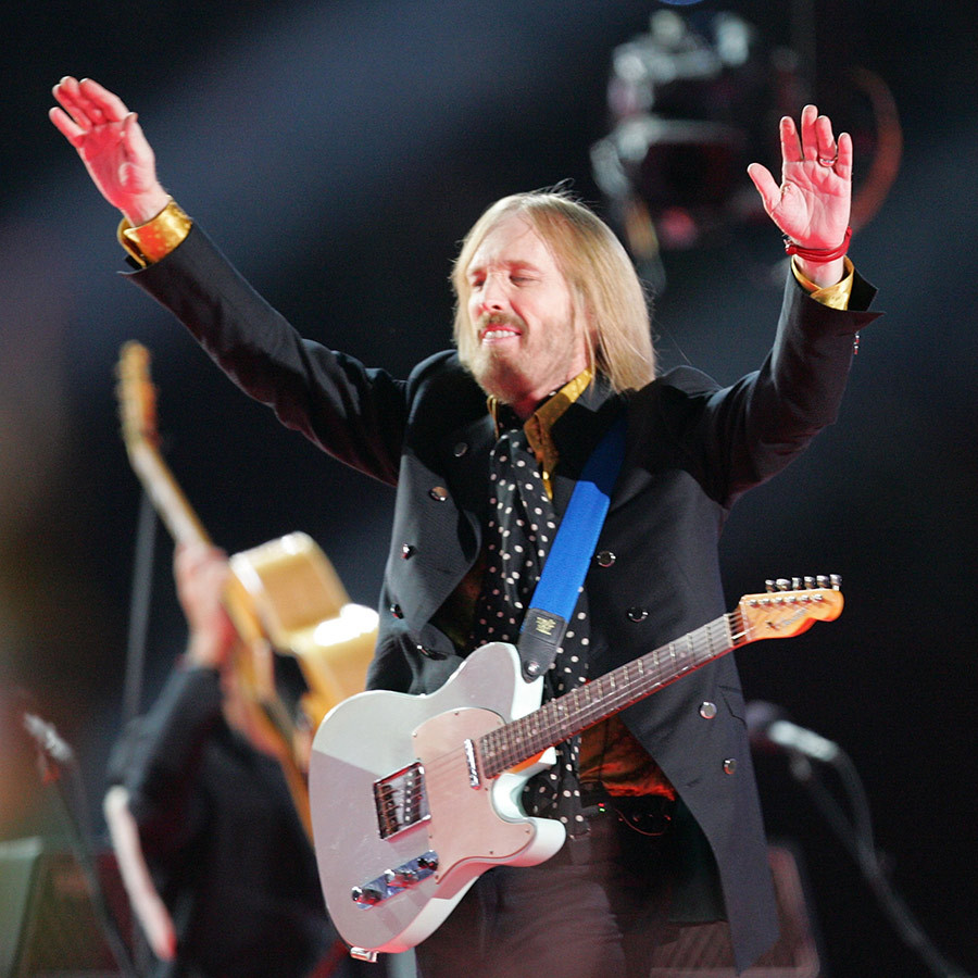 <strong><a href=/tags/0/tom-petty>Tom Petty</a> & the Heartbreakers</strong> ran through four classic songs during their 2008 set.