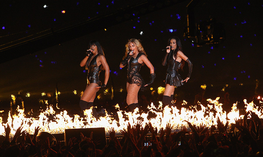 <strong><a href=/tags/0/beyonce>Beyoncé</a></strong> was joined by her former <Strong>Destiny's Child</strong> group members as they reunited during the 2013 show.