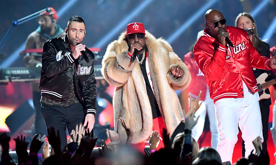 <strong><a href=/tags/0/maroon-5>Maroon 5</a></strong> were joined by <strong>Big Boi</strong>, <strong>Sleepy Brown</strong>, <strong>Travis Scott</strong> and more in 2019.