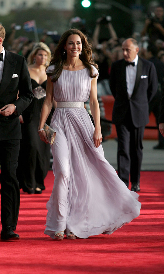 "<h2>2011</h2><p>Technically, this wasn't the BAFTA Film Awards! While in Los Angeles after touring Canada, Duchess Kate wowed at her very first BAFTAs red carpet. Back in 2011, she stepped out in high style to the BAFTA ""Brits to Watch"" event in a lovely lilac <a href=/tags/0/alexander-mcqueen><strong>Alexander McQueen</strong></a> gown, which was cinched with a sparkling white belt. <p>Photo: &copy; Matt Baron-Pool/Getty Images"