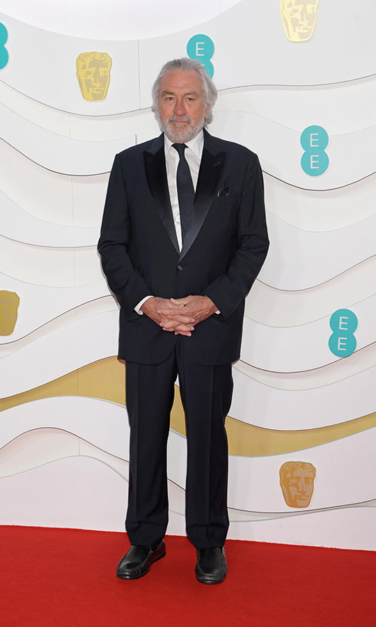 <a href=/tags/0/robert-de-niro><strong>Robert De Niro</strong></a> posed on the red carpet in a timeless black suit and tie. <p>Photo: &copy; David M. Benett/Dave Benett/Getty Images