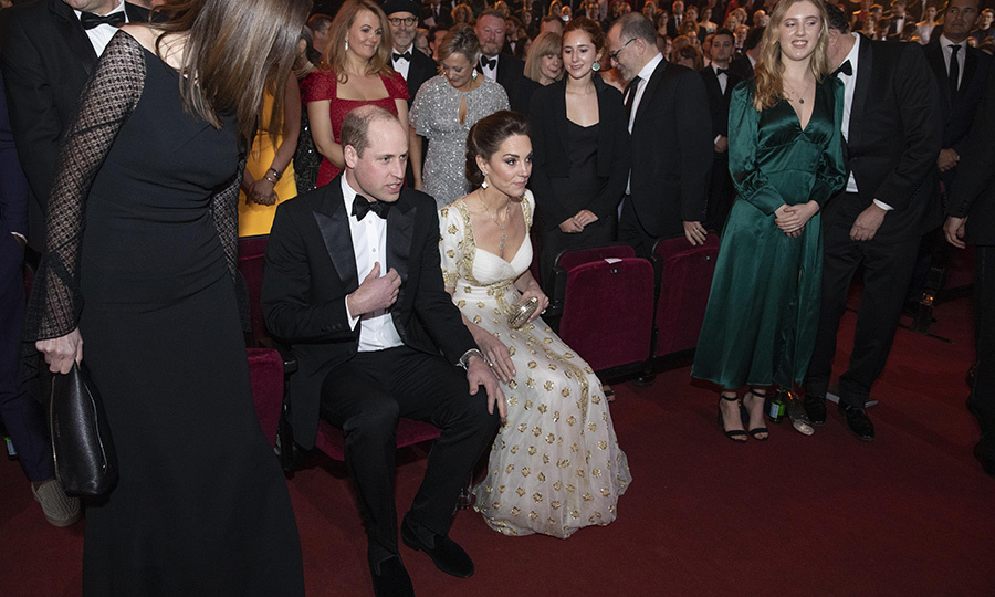 The couple took their seats, with everyone around them being slightly in awe that Wiliam and Kate were either right in front of them, or just to the side.