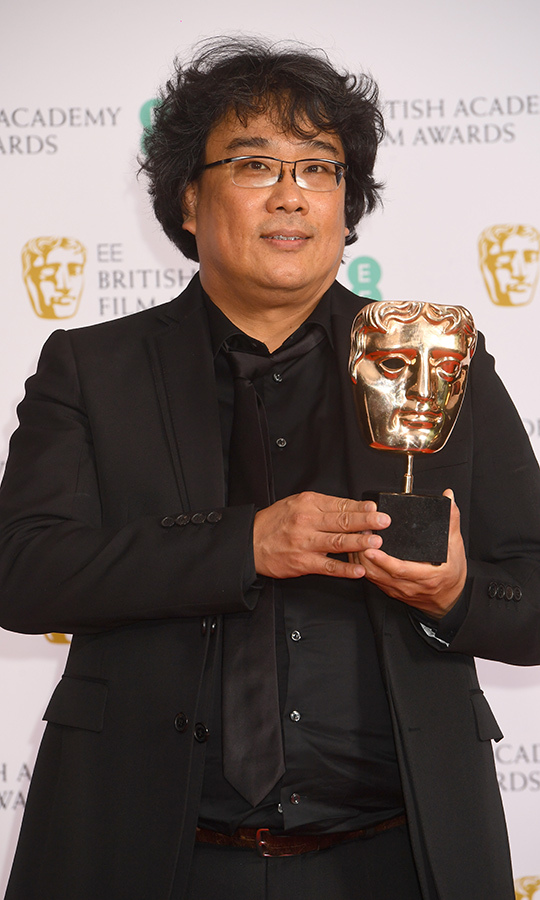 Director <strong>Bong Joon-ho</strong>'s <i>Parasite</i> picked up two awards at the BAFTAs, including Best Film Not in the English Language and Best Original Screenplay.