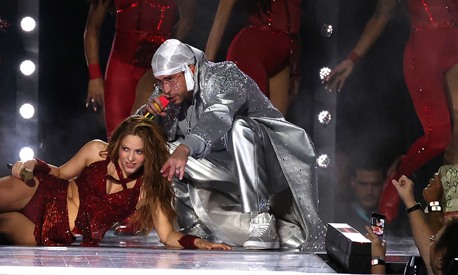 Of course, Miami not only has a huge Cuban-American community, but a large Puerto Rican community, too. So it made tons of sense that Shakira welcomed Puerto Rico's own <strong>Bad Bunny</strong> to the stage for part of her show.