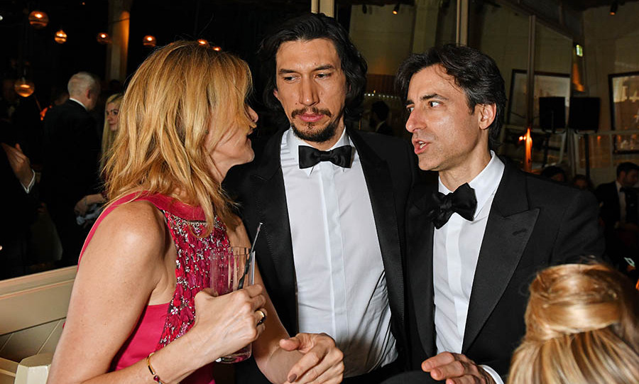 <a href=/tags/0/laura-dern><strong>Laura Dern</strong></a>, <a href=/tags/0/adam-driver><strong>Adam Driver</strong></a> and <em>Marriage Story</em> director <strong>Noah Baumbach</strong> chatted at the Netflix BAFTA after-party. <p>Photo: &copy; David M. Benett/Dave Benett/Getty Images for Netflix