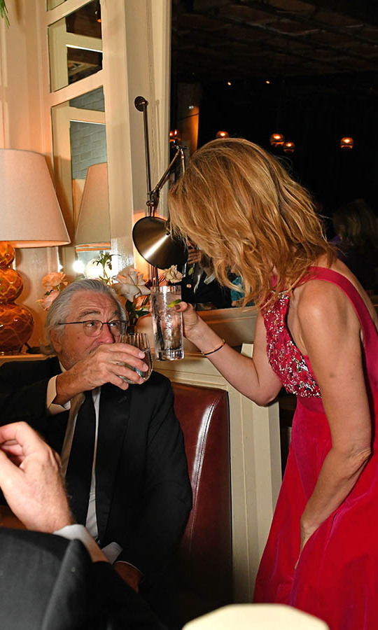 Cheers! Robert De Niro and Laura Dern toasted at the Netflix BAFTA after-party. <p>Photo: &copy; David M. Benett/Dave Benett/Getty Images for Netflix