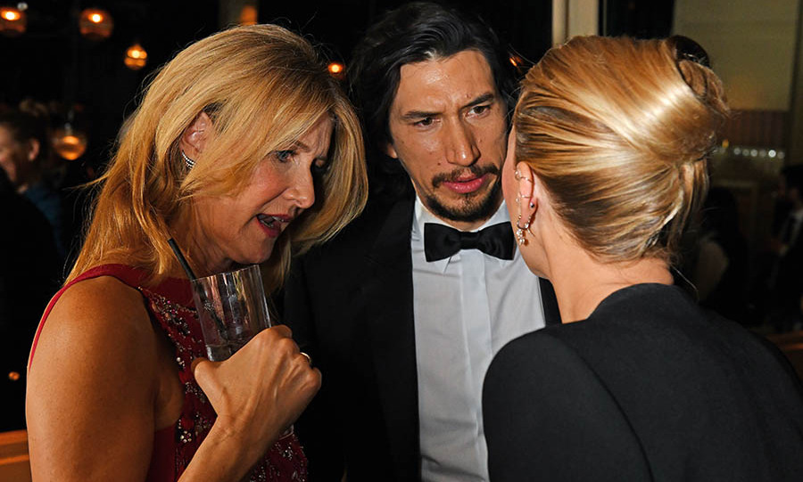 Laura Dern, Adam Driver and <a href=/tags/0/scarlett-johansson><strong>Scarlett Johansson</strong></a> appeared engrossed in conversation at the Netflix BAFTA after-party. We wonder what the <em>Marriage Story</em> cast members were discussing! <p>Photo: &copy; David M. Benett/Dave Benett/Getty Images for Netflix