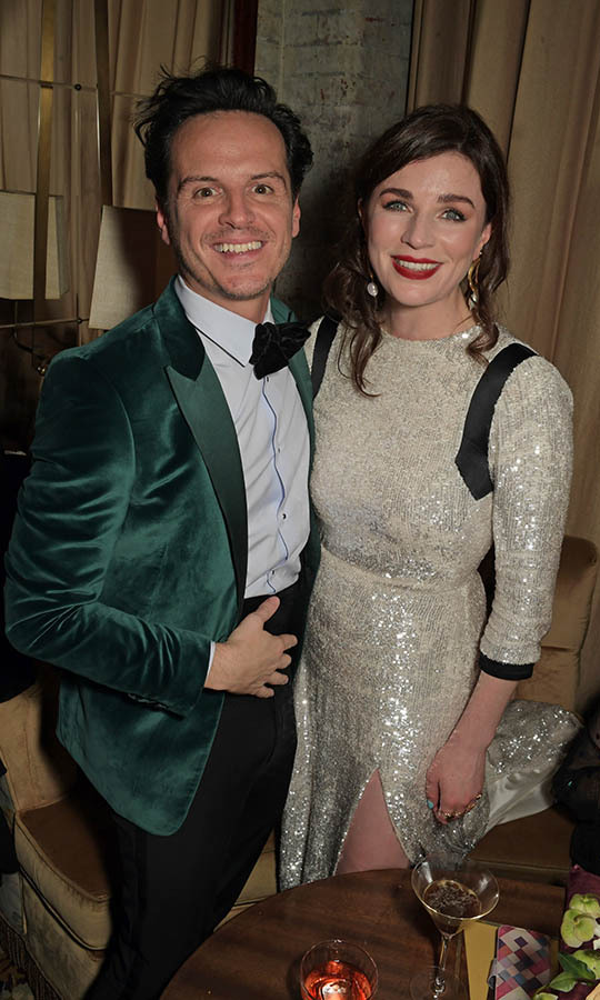 <em>The Town</em>'s <a href=/tags/0/andrew-scott><strong>Andrew Scott</strong></a> and <strong>Aisling Bea</strong> reunited at the Netflix BAFTA after-party at Chiltern Firehouse. <p>Photo: &copy; David M. Benett/Dave Benett/Getty Images for Netflix