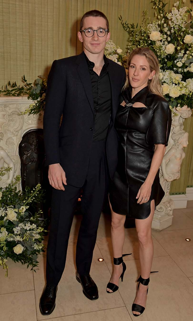 Newlyweds <strong>Caspar Jopling</strong> and <a href=/tags/0/ellie-goulding><strong>Ellie Goulding</strong></a> coordinated in black at the <em>British Vogue</em> and Tiffany & Co. Fashion and Film Party at Annabel's. <p>Photo: &copy; David M. Benett/Dave Benett/Getty Images