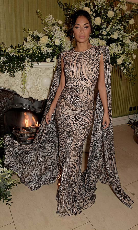 <a href=/tags/0/nicole-scherzinger><strong>Nicole Scherzinger</strong></a> looked so fierce at the same event in a flowing animal print gown. <p>Photo: &copy; David M. Benett/Dave Benett/Getty Images