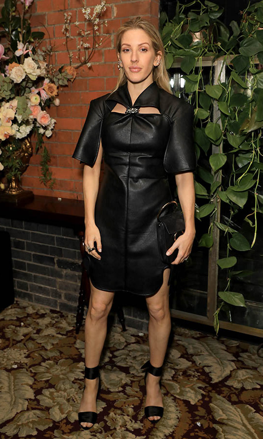 Singer <a href=/tags/0/ellie-goulding><strong>Ellie Goulding</strong></a>'s leathery dress at the Netflix BAFTA after-party was a cool mix of tough and chic. <p>Photo: &copy; David M. Benett/Dave Benett/Getty Images for Netflix