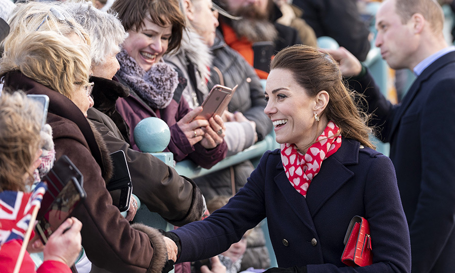 Kate was also seen shaking hands with many of the well-wishers. We love how personable she always is and how she's so able to easily connect with others! 