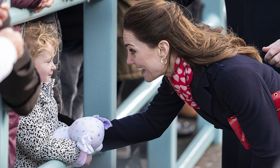 Kate also stopped to say hi to this sweetheart, who had brought her stuffed friend out to say hello!