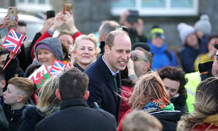William and Kate went through the crowd saying hello.