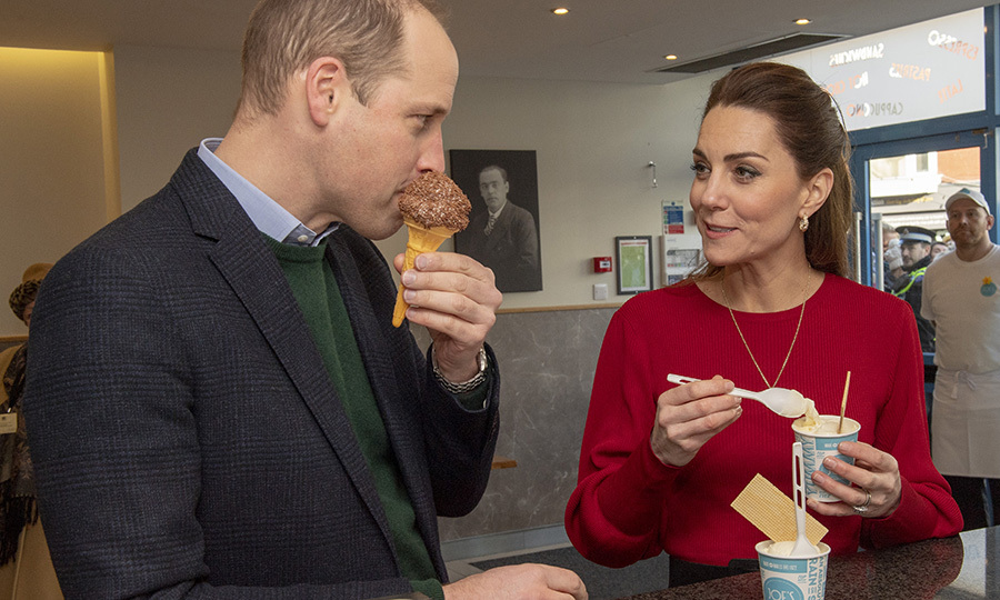 While inside, William and Kate enjoyed some ice cream!