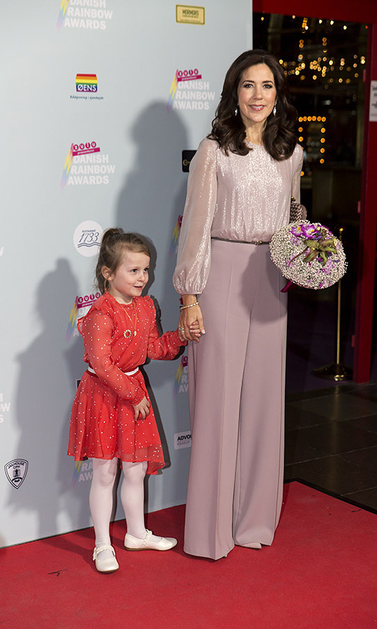 The crown princess had an elegant moment in dusty pink at the annual Danish Rainbow Award show on April 3, 2019 in Copenhagen. <p>Photo: &copy; Ole Jensen/Getty Images