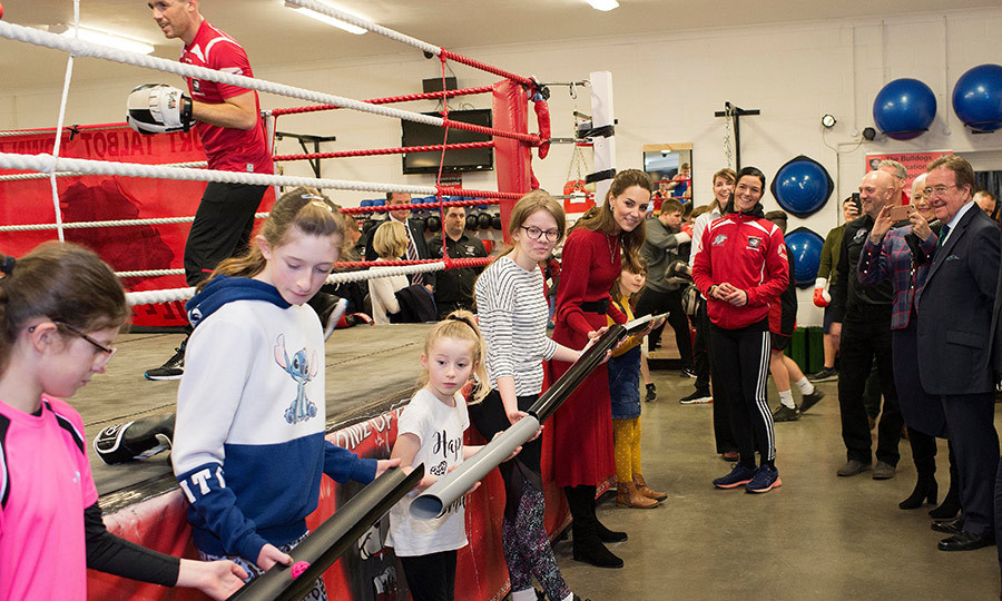 Prince William And Kate Middleton Receive Mini Boxing Gloves For