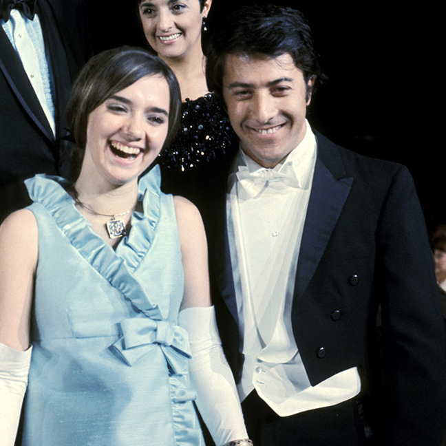 <strong>Ellen McCarthy</strong> and <a href=/tags/0/dustin-hoffman><strong>Dustin Hoffman</strong></a> looked like they were having a ball at the 40th Annual Academy Awards in 1968. He was nominated for Best Actor for <em>The Graduate</em>.<p>Photo: &copy; Ron Galella/Ron Galella Collection via Getty Images