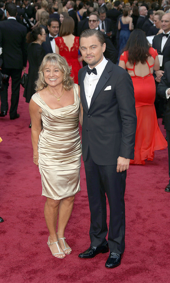 <strong><a href=/tags/0/leonardo-dicaprio>Leonardo DiCaprio</a></strong> brought his mom, <Strong>Irmelin Indenbirken</strong>, with him in 2014. He was nominated for <i>The Wolf of Wall Street</i> that year.