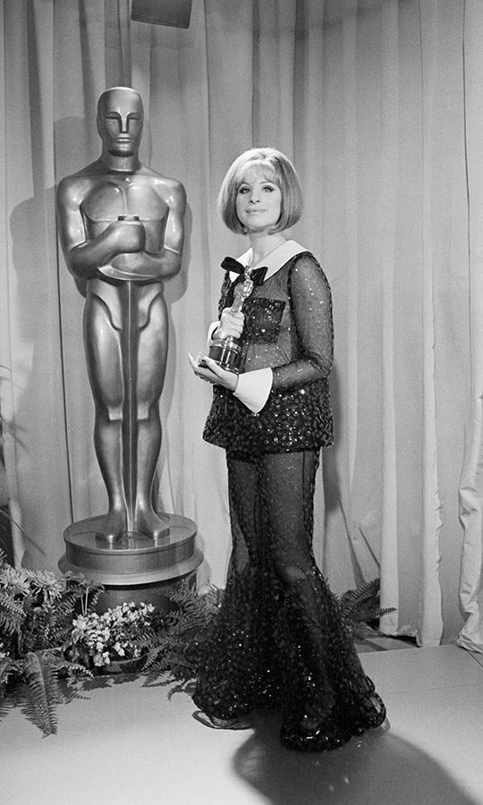 <h2>1969</h2><p><a href=/tags/0/barbra-streisand><strong>Barbra Streisand</strong></a>'s glittering sheer look at that year's Academy Awards remains a standout thanks to the unconventional style. She won the Best Actress award for <em>Funny Girl</em> in a tie with <strong>Katharine Hepburn</strong>. <p>Photo: &copy; Bettmann