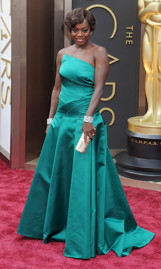 <h2>2014</h2><p><a href=/tags/0/viola-davis><strong>Viola Davis</strong></a> was gorgeous in green at the 86th Annual Academy Awards. <p>Photo: &copy; Gregg DeGuire/WireImage