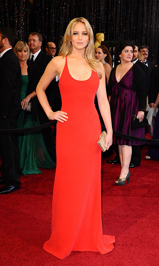 <h2>2011</h2><p><a href=/tags/0/jennifer-lawrence><strong>Jennifer Lawrence</strong></a> showed how simplicity can make a statement in a minimalist <a href=/tags/0/calvin-klein><strong>Calvin Klein</strong></a> dress. It was her first Oscars! <p>Photo: &copy; Ian West/PA Images via Getty Images