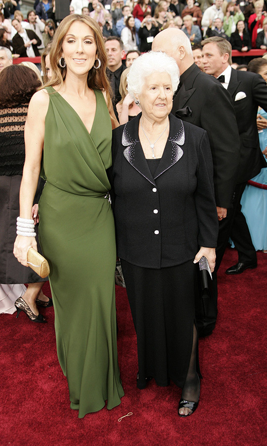 <strong><a href=/tags/0/celine-dion>Céline Dion</a></strong> brought her mom, <strong>Thérèse Tanguay Dion</strong>, with her in 2007.