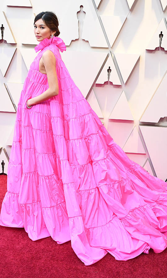 <h2>2019</h2><p>There was no missing <a href=/tags/0/gemma-chan><strong>Gemma Chan</a></strong> in her voluminous electric pink dress by <a href=/tags/0/valentino><strong>Valentino</strong></a>. The gown even had pockets! <p>Photo: &copy; Steve Granitz/WireImage