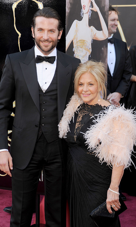 <strong><a href=/tags/0/bradley-cooper>Bradley Cooper</a></strong> brought his mom, <strong>Gloria</strong>, with him when he was nominated for <i>Silver Linings Playbook</i> in 2013. 