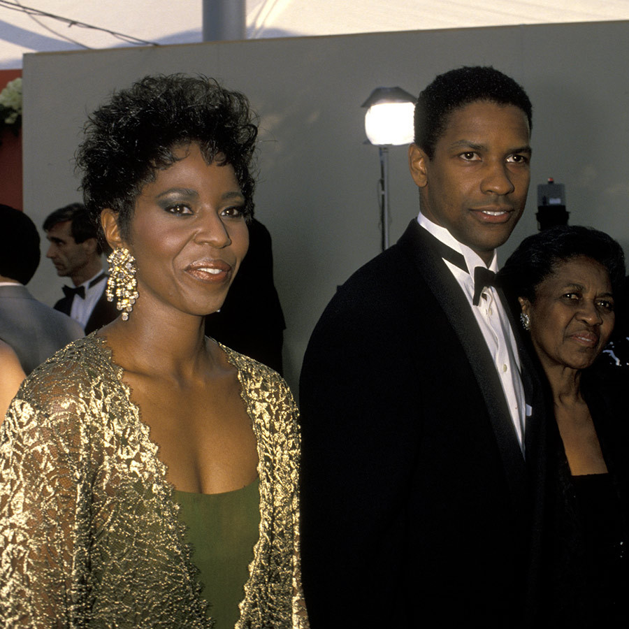 <strong><a href=/tags/0/denzel-washington>Denzel Washington</a></strong> had his wife, <Strong>Pauletta</strong> (left), and mother, <Strong>Lennis</strong> (right), with him in 1990. He won Best Supporting Actor for <i>Glory</i> that year.